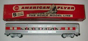American Flyer Red Stripe Passenger Coach Jefferson #24793 w/OB - Excellent L@@K