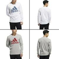 adidas Men's Athletics Tee Badge Of Sports Casual Long Sleeves Classic T-Shirt