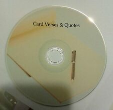 Card Verses + Quotes - Art & Craft card making CD Rom