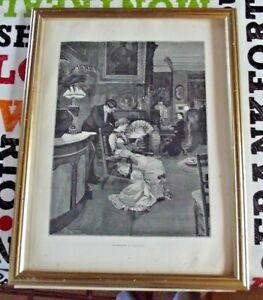 Le Flirtage par A. Forestier les Merveilles de l'Art Moderne 1886 Éventail Hotel
