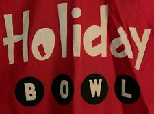 Rare Vintage Red White Black Holiday Bowl Bowling Shirt Size 36 California Alley