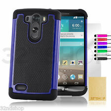 New Shock Proof Case Cover for LG G3 S (D722) + Free Screen Protector & Stylus