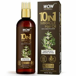 WOW Skin Science10 in1 Miracle Hair Oil WITH COMB APPLICATOR 100ml