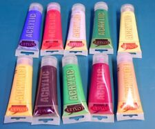 LOXLEY ACRYLIC PAINTS 10 x 75ml TUBES ARTISTS CANVAS MURAL DECORATIVE PAINT QUAL