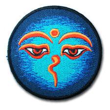 Eyes of Buddha Patch Iron on Infinity Hindu Hinduism Yoga Indian Trance Om Boho