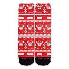 Function - Ugly Christmas 8 Bit Pug Socks novelty socks sublimation socks funny