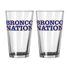 NCAA Boise State Broncos Slogan Pint, 16-ounce, 2-Pack