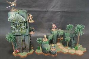 Heroscape Custom Terrain - Aztec Jungle Arch and Column... OF DOOM!!! (2 Pieces)