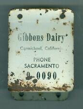 Early 1900's Gibbons Dairy, Carmichael, California Bottle Opener