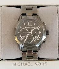 New Michael Kors MK6303 Bradshaw Gunmetal Grey Chronograph Watch Free Shipping