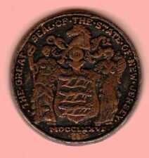 Vintage State Seal Token New Jersey