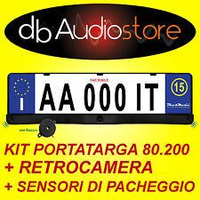 Kit Sensori di Parcheggio Retrocamera Portatarga Parking System Allarme Sonoro