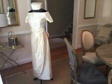 Vintage Tea Length Custom Made Wedding Dress in Shantung Silk Cream.    Sz 2