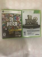 DJ HERO 1 & 2 - XBOX 360 VIDEO GAME BUNDLE (MANUALS INCLUDED)