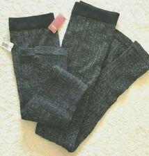 LOT OF 2 Women Junior No Boundaries Sweater Lurex Leggings, Black Size:M (7-9)