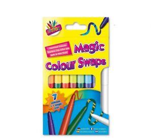 Magic Colour Swap Fibre Pen (pack Of 8) - Pens Assorted Colours Felt Tips
