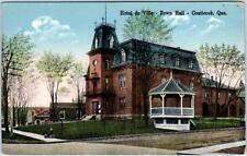 COATICOOK, Quebec  Canada   HOTEL de VILLE, Town Hall   ca 1910s  Postcard