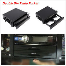 Car Auto Large Space Double Din Dash Radio Installation Pocket Kit Storage Box