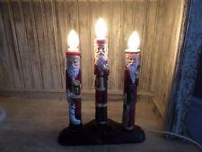 Vintage Christmas Santa Candolier Candleabra