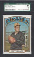 1972 Topps baseball card #320 Steve Blass, Pittsburgh Pirates graded SGC 84 NM 7