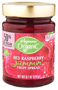 Wegmans Organic Jammin' Red Raspberry Fruit Spread Jam, 9.7 ounce Jar