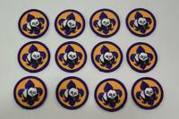 Set of 12 Cub Scout Round Patch World Conservation Purple Panda