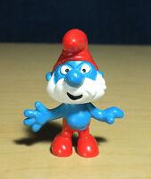 Smurfs Papa Smurf Re-issue 1969 Schleich Figure PVC Vintage Figurine Peyo 20001