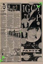 Iggy Pop Party Tour Advert NME Cutting 1981