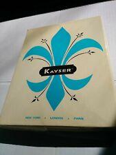 Nos 2 Pair Vintage Kayser Nylon Thigh Stockings Off White Women's Size 10.5/11