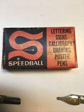 Hunt Pen Co. Speedball Pens Triple Reservoir A-3 Pen Nibs Nos 12/12