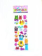Popular Cartoon Beautiful Boys Girls Clothers Bubble Stickers Kids Xmas A1s