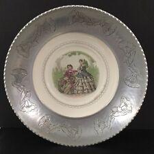 "Vtg Farberware Brooklyn Ny Porcelain and Hammered Aluminum 13-1/2"" Serving Bowl"
