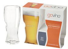2 Pack Govino Plastic Beer Glasses Shatterproof Reusable Picnic 16 Ounce WA57459