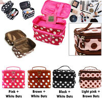 WOMENS Travel Beauty Case MAKEUP Large Cosmetic Set Toiletry Holder Bag NEW UK
