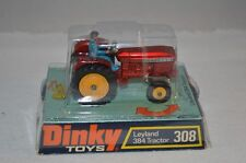Dinky Toys 308 Leyland 384 Tractor red with yellow wheels scarce model selten