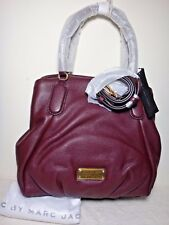 NWT Marc By Marc Jacobs New Q Fran Leather Satchel, Dark Wine