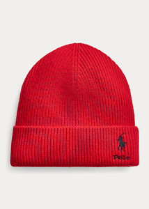 Polo Ralph Lauren Men's Wool - Cashmere Watch Cap Beanie RL 2000 Red One Size