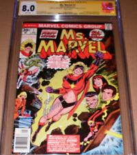 Ms Marvel #1 CGC 8.0 SS SIGNED John Romita Gerry Conway 1977 Carol Danvers Movie