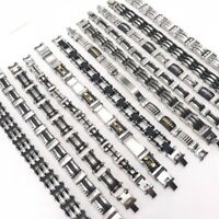 Wholesale 12pcs/Lots Mix Style Cuff Stainless Steel Jewelry Bracelets For Mens
