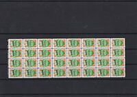 Great Britain Green Shields Stamps Mint Never Hinged Sheet ref R 16650