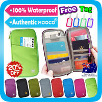 Travel Wallet Passport Holder Organizer Card Coin Pouch iPhone Case+Tag Lime