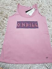 New Women's O'Neill LW Escape Tank Top Size S 100% Cotton Pink RRP £19.99