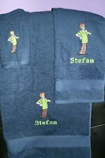 Scooby Doo Shaggy Personalized 3 Piece Bath Towel Set Shaggy  Any Color