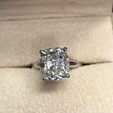 Women's 2.10 Ct Radiant Cut Diamond Engagement Ring 14k White Gold Finish