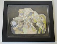 HARRIET WENKER VINTAGE ABSTRACT MODERN ART CUBISM NUDE WOMEN SURREALISM PAINTING