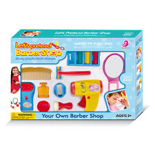 Play Accessories Barber Shop Salon Hairstyle Play Set Kids Pretend to Cut Hair A