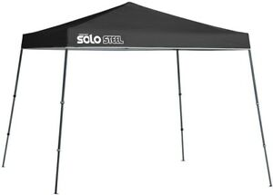 Canopy 11 ft. x 11 ft. Slant Leg Black Finish with Infinite Height Positions