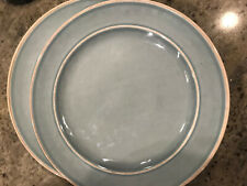Pottery Barn Kids Set of 4 Turquoise Cambria Melamine Dinner Plates NEW