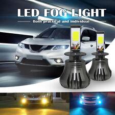 H3 3000K Yellow Amber LED Fog Light Bulbs Car Driving DRL Headlight 80W 9600LM