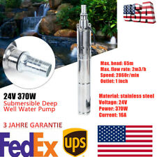 370w Dc 24v Solar Power Submersible Water Pump Deep Well Pump For Farmranch Us